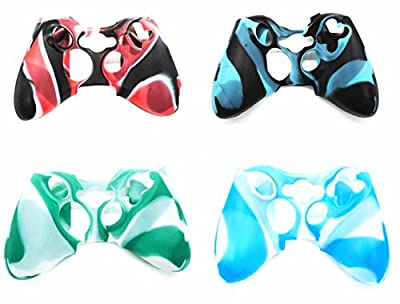 Hipipooo 4 Pack Soft Camouflage Silicone Cover Case Skin for Xbox 360 Controller from jin wan yi company
