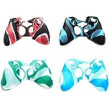 Cubierta de piel para Xbox 360,Pack de 4 capas de piel de silicona suave camuflaje para el control de Xbox 360