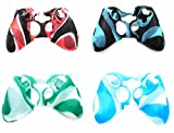 hipip OOO 4 Pack Soft Camouflage Custodia protettiva in silicone per XBOX 360 Controller
