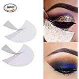 Climberty 50 Pcs Eyeshadow Shields Professional Lint Free Under Eye Eyeshadow Gel Pad Patches For False Eyelash Extensions Sticker/Lip Makeup