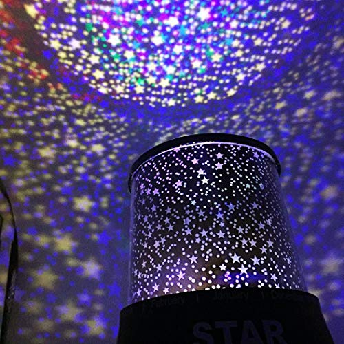 Projektor Lampe Kinderzimmer Sternenhimmel Baby Led Nachtlicht Kinder Schlaf USB Rotation Bunte Licht