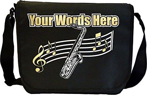 Saxophone Sax Tenor - Personalisierte Sonderanfertigungen Musik Noten Tasche Sheet Music Document Bag MusicaliTee
