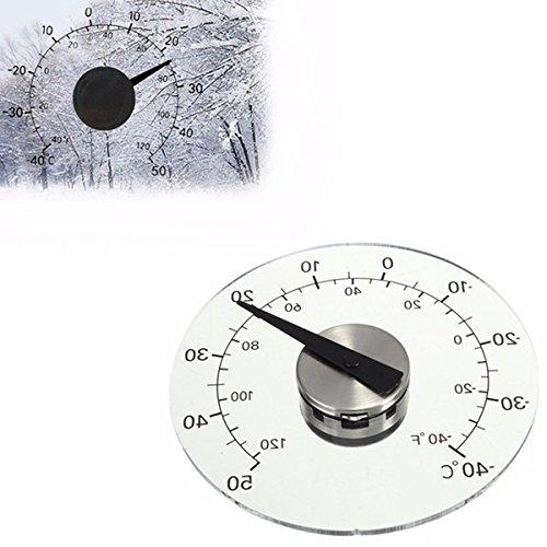EsportsMJJ 4,33 Pollici Termometro Rotondo Trasparente Finestra Circolare Temperatura Thermograph
