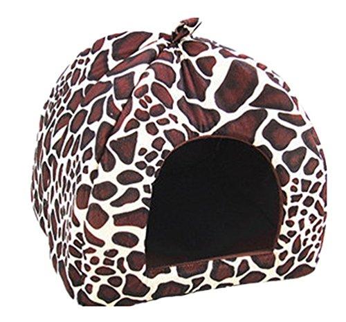 Yiiquan animale fragole nido casa del cane e gatto domestico canile cuccia morbida (beige marrone, asia s)