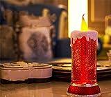 HAPPYMOOD Tischleuchte in Kerzenform Weihnachten Geburtstagsgeschenk Dekoration für Zuhause Zimmer Deak Hochzeit Party Karneval Feier romantische Fee Lampe