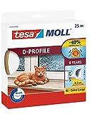 tesa H0538900 05389–00000–00Moll D Zugluftstopper für Türen und Fenster, weiß, 25m x 9mm