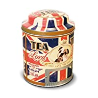 NATIVES 211147 Lord Brian Boîte à thé Métal Multicolore 9 x 9 x 11,5 cm