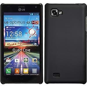 Hardcase LG Optimus 4X HD P880 - Schwarz - PhoneNatic Hard Case Cover Hülle Schutzhülle + Schutzfolie