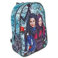 PERLETTI 13730 Disney Descendants Mini Backpack - School Bag for Kindergarten with Mal & Evie - Turquoise - Dimensions: 31x24x10 cm