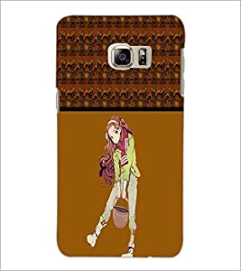 PrintDhaba Cute Girl D-4274 Back Case Cover for SAMSUNG GALAXY NOTE 5 EDGE (Multi-Coloured)