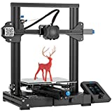 Creality WOL3D Creality Ender 3 V2 FDM All Metal 3D Printers Kit with Upgraded Silent Motherboard, Carborundum Glass Bed, Mea