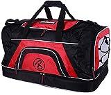 Brubaker 'Big Base' XXL Sporttasche 90 L mit großem Nassfach als Bodenfach + Schuhfach - Schwarz/Rot