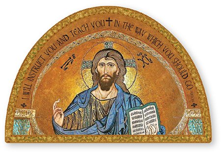 Christus, der Lehrer Griechisch Ortodox Christian Icon Gold Folie Highlights 17,8 cm X 4 3/10,2 cm