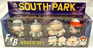 South Park pack 4 figurines Boy Band 8 cm --- EMBALLAGE ENDOMMAGE