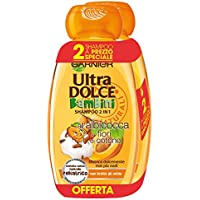 Garnier Ultra Dolce Shampoo 2in1 per Bambini all' Albicocca e Fiori di Cotone, senza Parabeni, senza Parabeni, Ipoallergenico, 300 ml, 3 Confezioni da 2