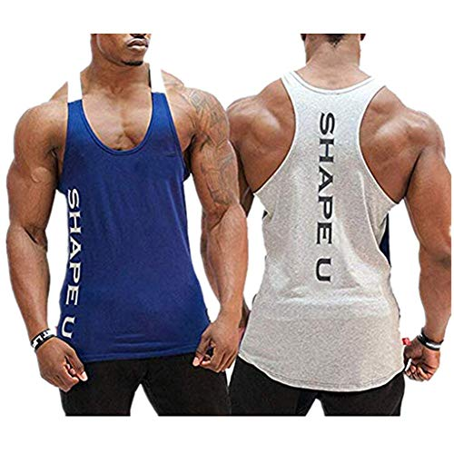 Storerine Mode Tank,SHAPEU Zwei-farbige Muskel-Herrenweste für Herren Ärmelloses Männer Tank Top T-Shirt Bodybuilding Sport Fitness Weste