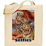 T Rex dinosauri | reusable | Eco friendly | Cotton Bag | regalo ideale | Fun |