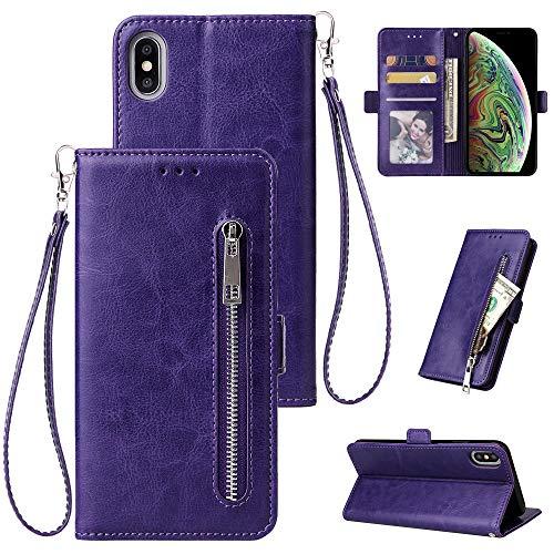 Zipper Wallet Ledertasche Für iPhone XS Max X 8 7 7 Plus 6 6 S Plus Flip Telefon Fall Abdeckung Für iPhone 5 5 S Magnetische Fall,G,iPhone66s - Iphone Fall Flip-telefon