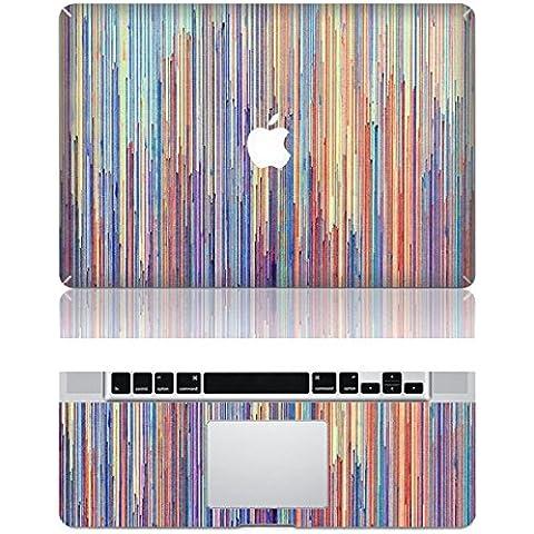 Vati fogli smontabili Colorful banda verticale di protezione della copertura completa di arte del vinile Decal Sticker Cover per Apple MacBook Pro Retina da 13,3