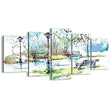 Cuadro sobre lienzo - 5 piezas - Impresión en lienzo - Ancho: 160cm, Altura: 85cm - Foto número 3035 - listo para colgar - en un marco - EA160x85-3035