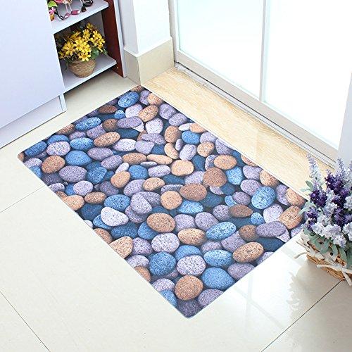 Alfombra de pie de cama dormitorio/Alfombras de baño en el pasillo/Alfombra de polvo en la puerta de la cocina/Sala felpudos-C 60x90cm(24x35inch)