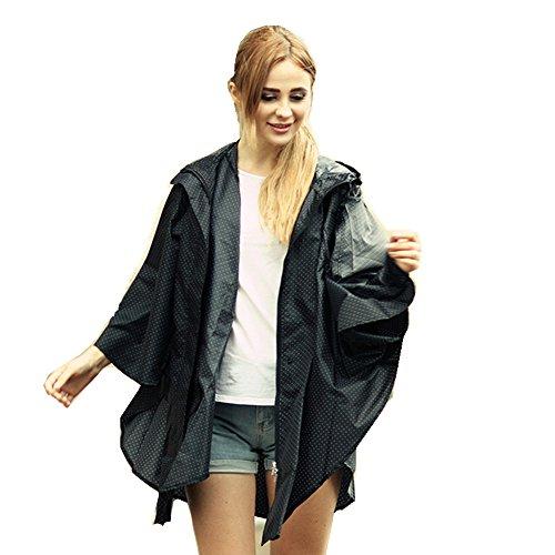 uniquebella-raincoat-women-girls-waterproof-rainwear-hooded-rain-jacket-poncho-free-size-black-dots