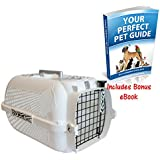 Secure Cat Carrier With A Distinctive Tiger Pattern - Good Ventilation And Comes With A Water/Feeding Bowl - Great For Trips To The Vet And When