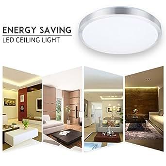 lampwin led deckenleuchte deckenlampe 24w kaltwei licht 6000k 2000 lumen m beleinbauleuchte. Black Bedroom Furniture Sets. Home Design Ideas