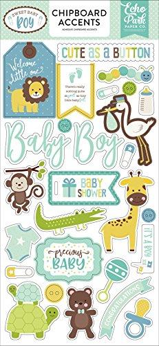 Echo Park Paper Company Sweet Baby Boy 6x 13Spanplatten Akzente -
