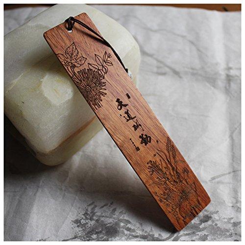 NING123 Bookmarks der Chinesischen wind/Quaste Holz Lesezeichen, Gott hilft denen, die helfen, sich selbst