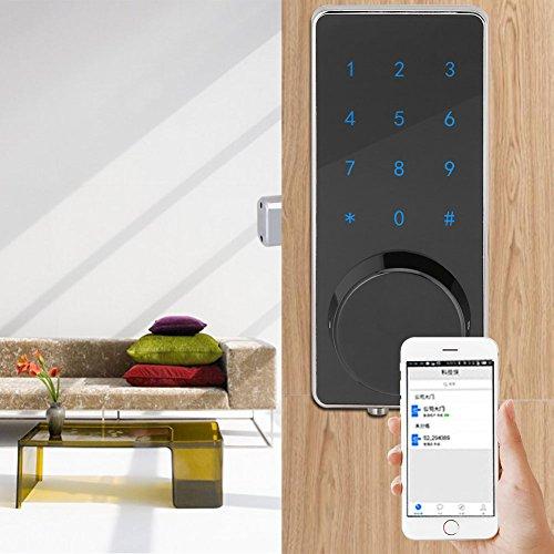 Asixx Bluetooth Türöffner, Elektronisches Türschloss APP Entsperren Bluetooth Anti-Diebstahl-Sperre mit Touch Tastenfeld