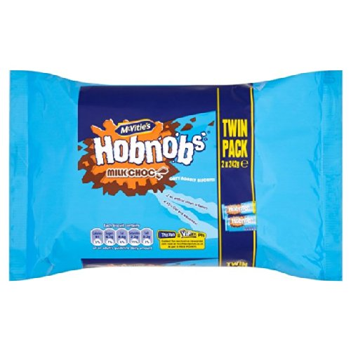 Mcvitie's Milk Chocolate Hob Nobs Twin 2 per pack