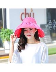 Sunscreen femenino Verano Sombreros La versi¨®n coreana de la visera Top Hat vac¨ªo Uv-rim Tapa de marea playa plegable