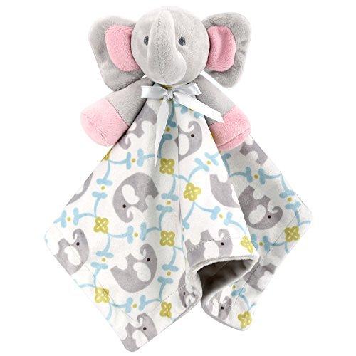 Zooawa Baby Beruhigendes Spielzeug, Weiche Stoff Tiere Bandana Plüsch Tier Sicherheitsdecke für 0 bis 36 Monate Baby Kleinkind, Hase Rosa
