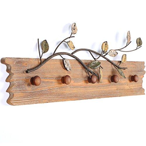 Vintage lron art appendiabiti appendiabiti in legno ingresso in legno massello appendiabiti da bar decorazione decorazione da muro 69.5 * 5 * 23cm,a