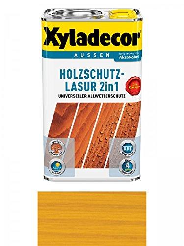 Preisvergleich Produktbild Xyladecor Holzschutzlasur 2in1 Aussen, 5 Liter, Farbton Eiche hell