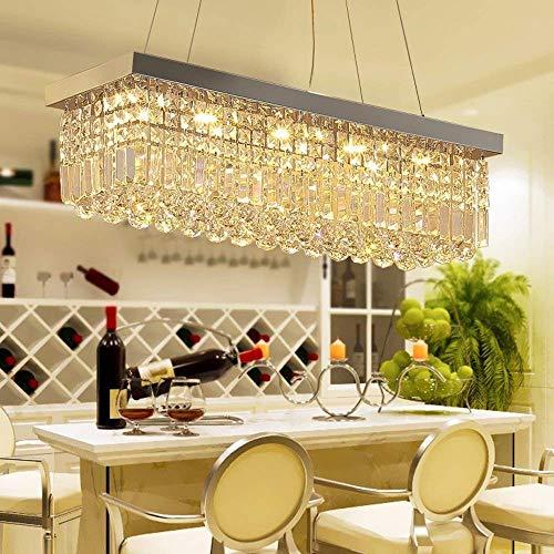 Crystal 25 Licht (AXCJ Kronleuchter - Creative Restaurant Crystal Chandelier - LED-Licht,120 * 25cm DREI-Farben-LED)