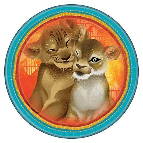 Unbekannt König der Löwen 8 Stück Teller aus Pappe - Partyteller je ca 22,9 cm Disney The Lion King