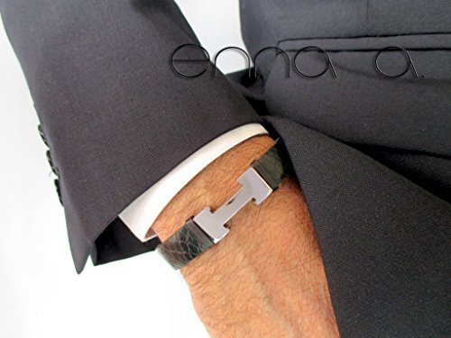 pulsera-cuero-grabado-negro-y-acero-inoxidable