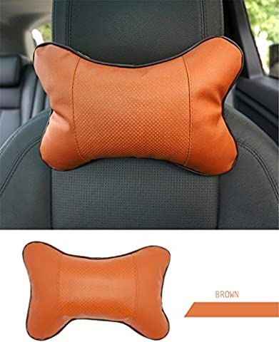 Memory Foam Car Seat Neck Pillow SUV Vans Truck Cervical Headrest Bone shape Support For Auto Office Chair Supports Pad 4 Colors ( Beige Black Grey Brown) ,