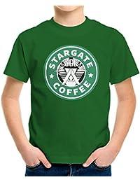 Stargate SGC Starbucks Coffee Kid's T-Shirt