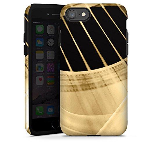 Apple iPhone 7 Silikon Hülle Case Schutzhülle Gitarre Instrument Saiten Tough Case glänzend