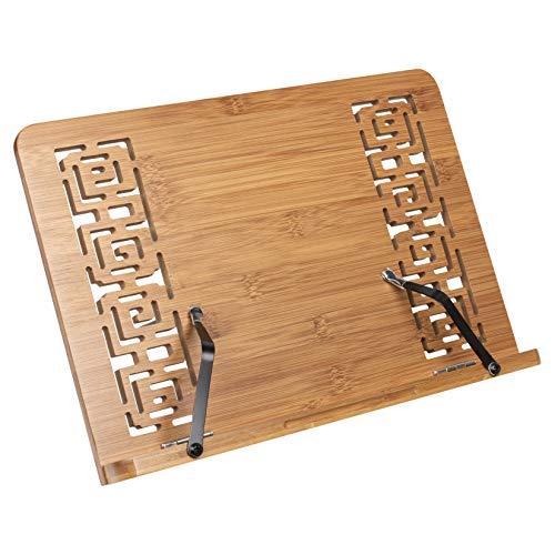 woodluv Estante para Colocar Material de Lectura, Libros de Cocina, Soporte