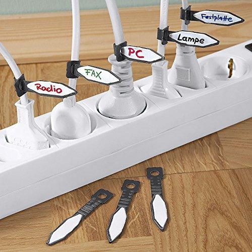Tri Kabel-Markierer, 20 Stück, Kabel Markierer zum beschriften Aller Stecker in Mehrfachsteckdosen