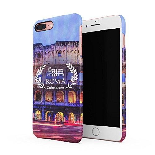Crazy Nights In Amsterdam Smoke Weed Dünne Rückschale aus Hartplastik für iPhone 7 Plus & iPhone 8 Plus Handy Hülle Schutzhülle Slim Fit Case cover Roma Colosseum