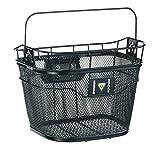 TOPEAK Fahrradkorb Basket Front und Fixer 3e E-Bike kompatibel, Black, 35x25x26 cm, 16 L, TB2011-B