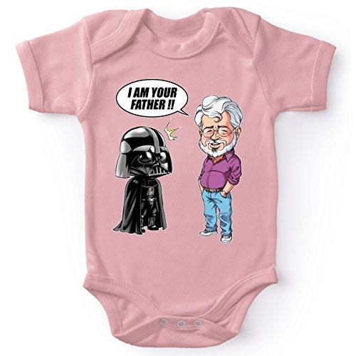 ink Baby Strampler (Mädchen) - Darth Vader und George Lucas - I am Your Father (Star Wars Parodie) (Ref:887) ()