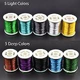 10 Spulen 300D Fliegen Binden Faden Fliegenbinden Materialien Fly Tying Floss Thread (5 Deep Colors+5 Light Colors)