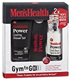Men's Health Geschenkset Power Gym to go Cool down, 1 x Power Cooling Shower Gel & 1 x Power Cool Down Sports Gel & 1 x Power Trainingsband, 1er Pack (1 Set)