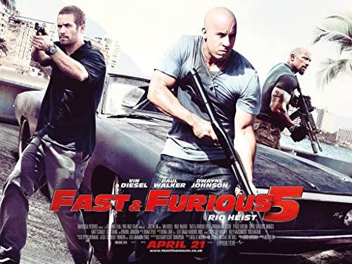 Fast and Furious 5 - VIN Diesel - Film Poster Plakat Drucken Bild - 30.4 x 43.2cm Größe Grösse Filmplakat Fast Five